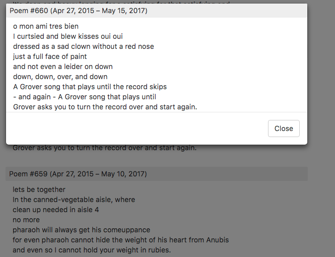 Sample image of a poem in the new modal dialog.